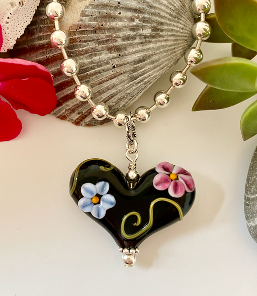 Floral Black Heart Version 3
