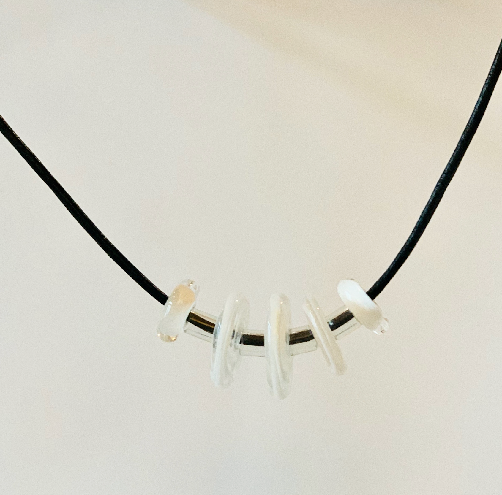 White Floating Necklace