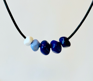 Go Royals! Geometric Floating Necklace