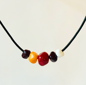 Chiefs Inspired Geometric Floating Necklace