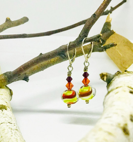 Red & Green Twist Earrings