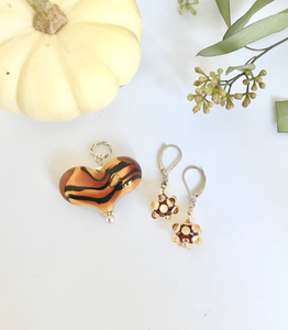 Tiger Heart & Earrings Set