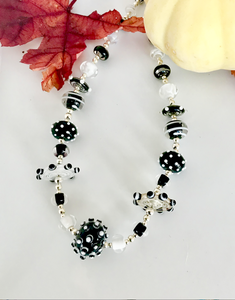 Black and White Mixed Bead Necklace