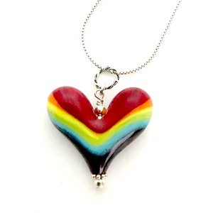 Heart of the Day - Rainbow Landscape Heart