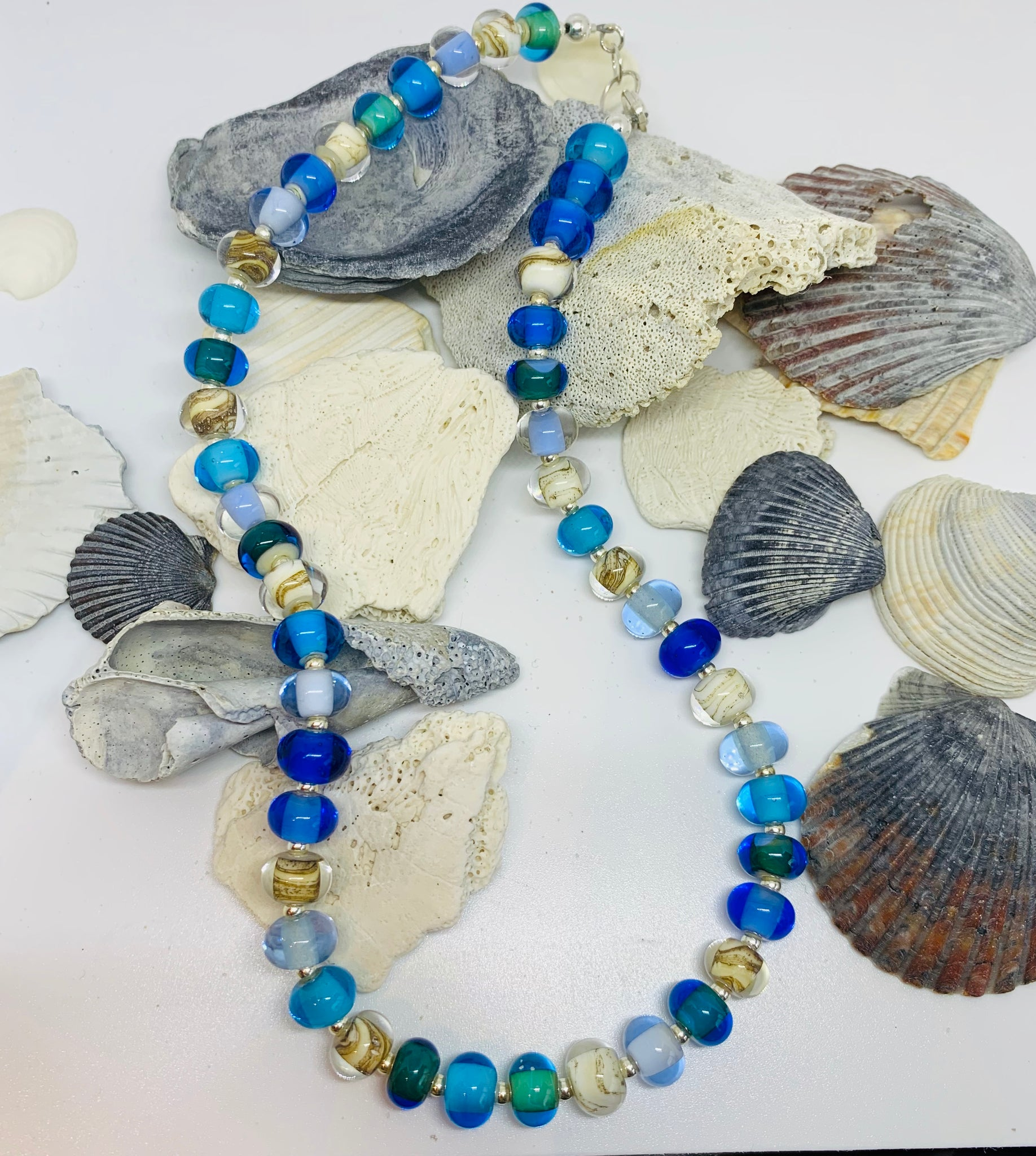 Beach Glass Pearl Necklace