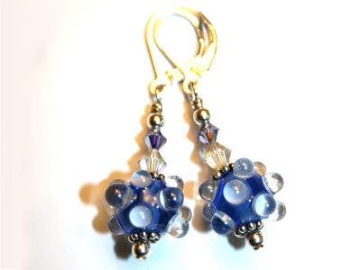 Earrings - Raindrops - Blue