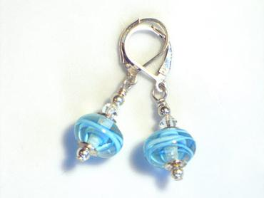 KH Designs Small Clear Swirl Earrings