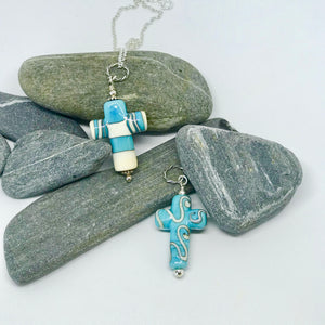 Turquoise Large Cross