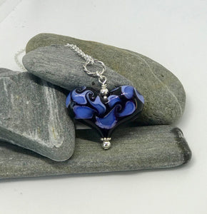 Purple & Blue Fire Heart