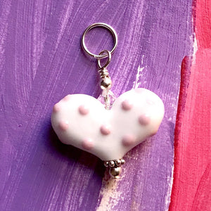 Heart of the Day - Small Heart with Pink Polka Dots
