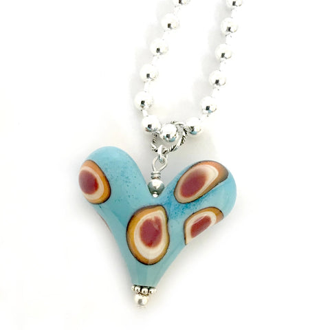 Heart of the Day - Turquoise with Circle Design
