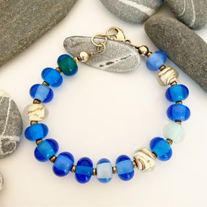 Beach Glass Pearl Bracelet