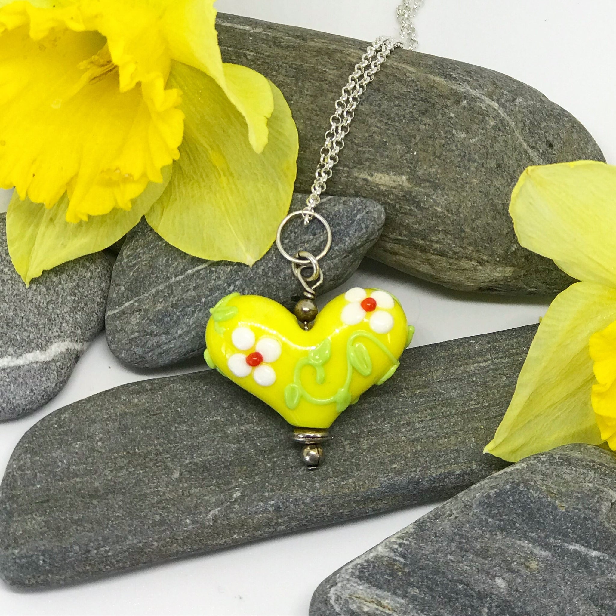 Yellow Spring Flowers Heart