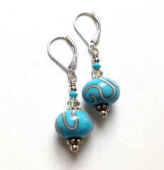 Turquoise Crystal Earrings