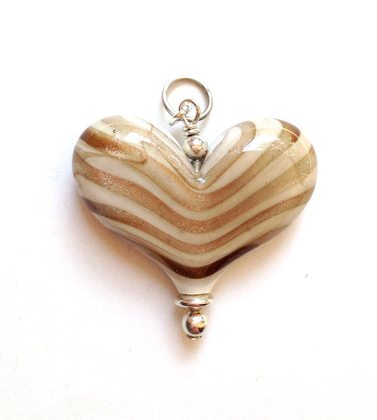 Cream and Gold Large Heart