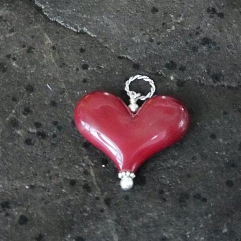 Heart of the Day - Red Worry Stone Heart