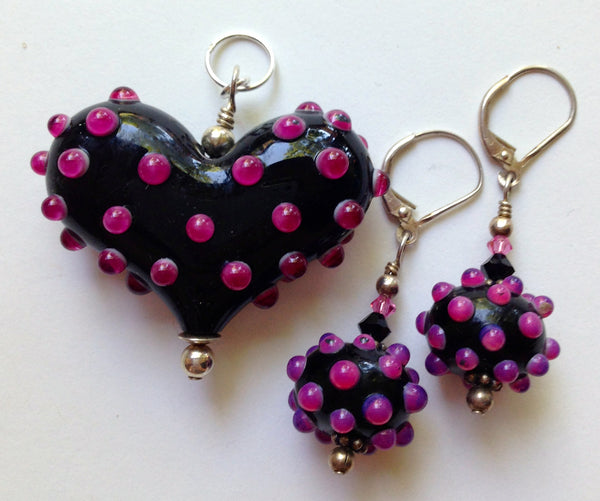 Weekly Special! Large Heart and Earring set