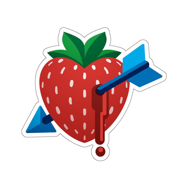 """Strawbarrow"" Kiss-Cut Stickers"
