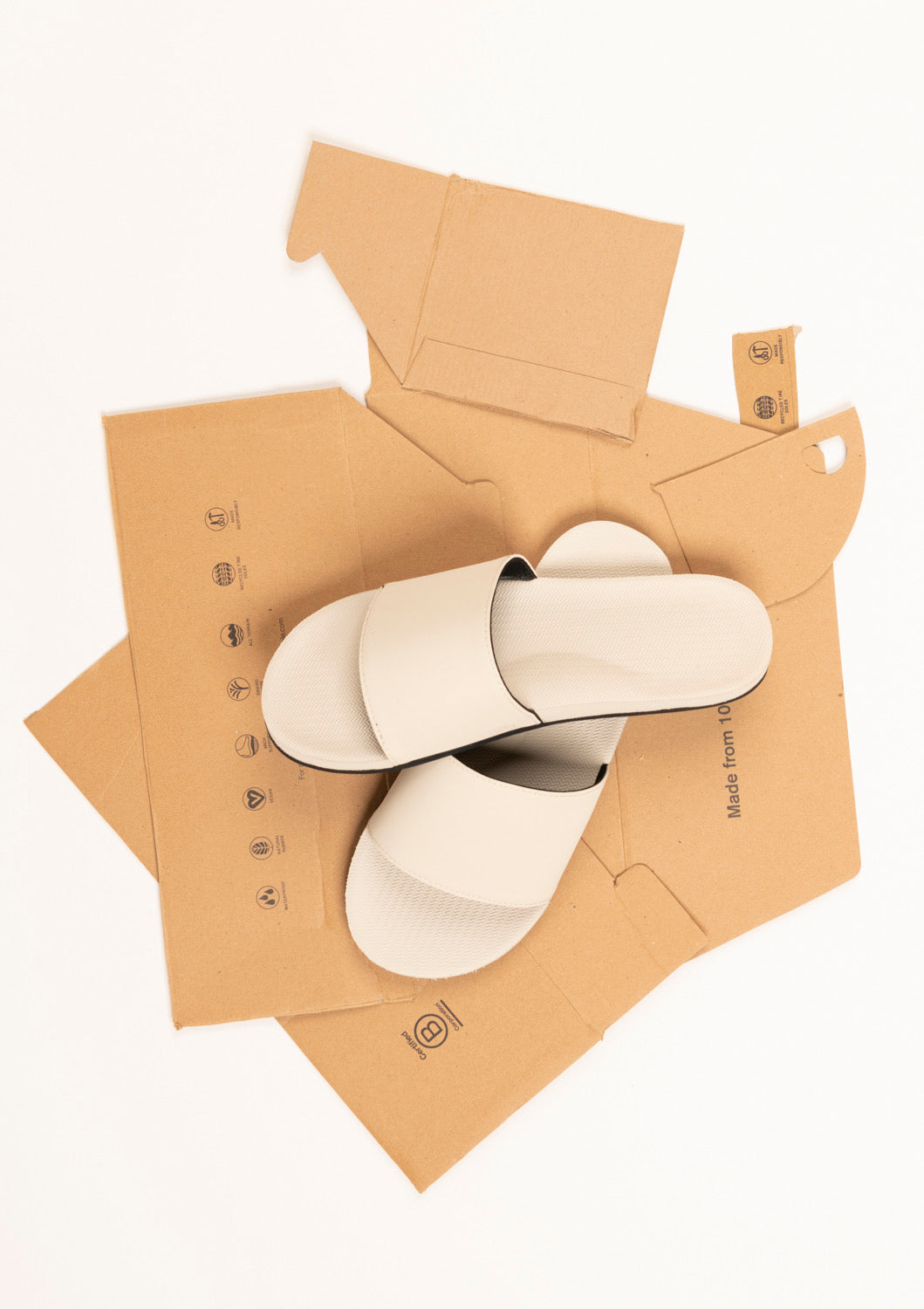 ESSNTLS Womens Slides - Sea Salt White