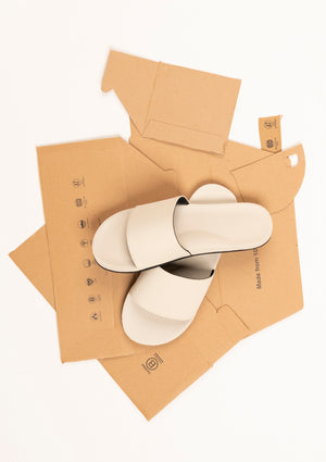 ESSNTLS Mens Slides - Sea Salt White