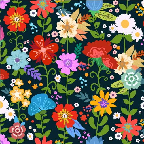 Flowers 1 Adhesive Pattern - Clean Cut Graphics LLC