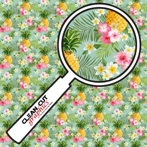 Tropical Flowers Adhesive Pattern