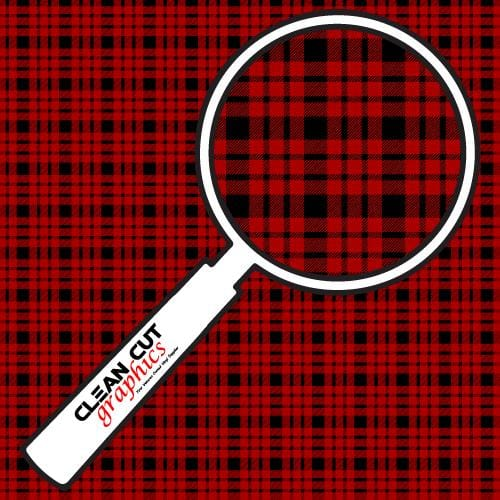 Red & Black Buffalo Plaid Adhesive Pattern