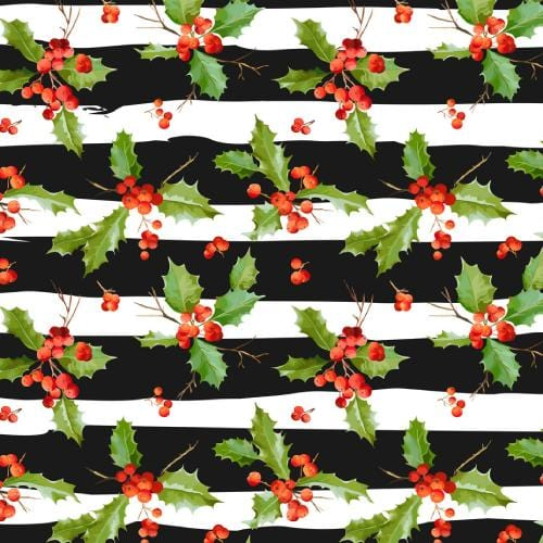 Vintage Holly Adhesive Pattern - Clean Cut Graphics LLC