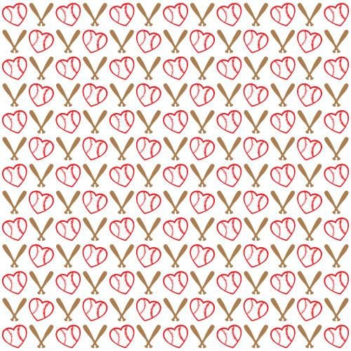Baseball Hearts Adhesive Pattern - Clean Cut Graphics LLC