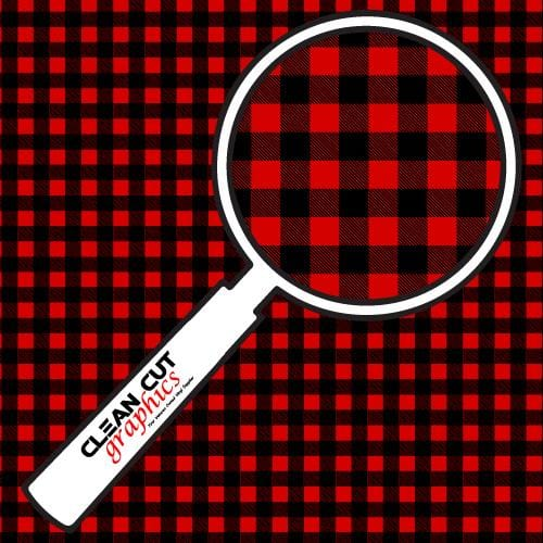 Red Flannel Adhesive Pattern