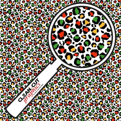 Red Yellow Green Cheetah Pattern