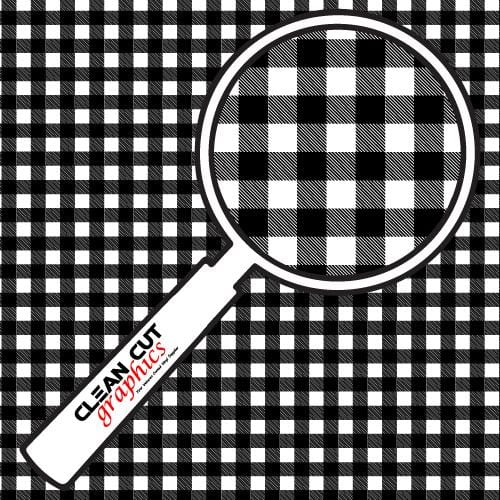 Black & White Flannel Adhesive Pattern
