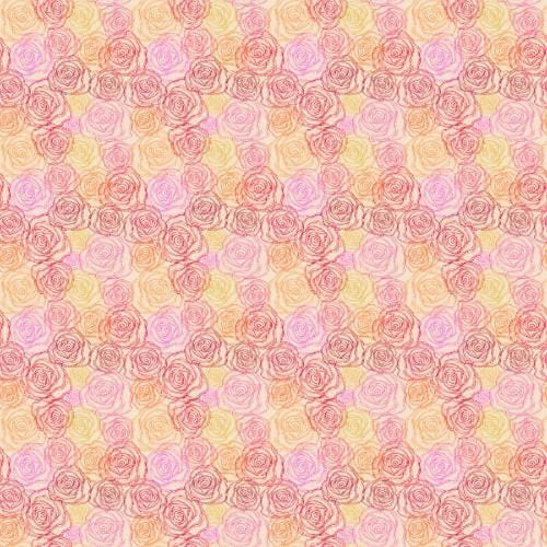 Sketched Roses Adhesive Pattern - Clean Cut Graphics LLC
