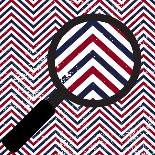 Patriotic Zig Zags Adhesive Pattern