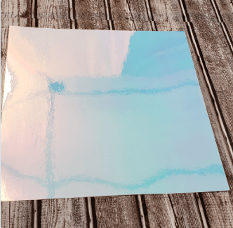 Holographic Opal Adhesive 12x12 sheets - Clean Cut Graphics LLC