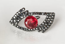 """Eye"" am fierce ring (Black & Red)"