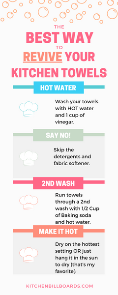 The BEST Way to REVIVE Your Kitchen Towels...
