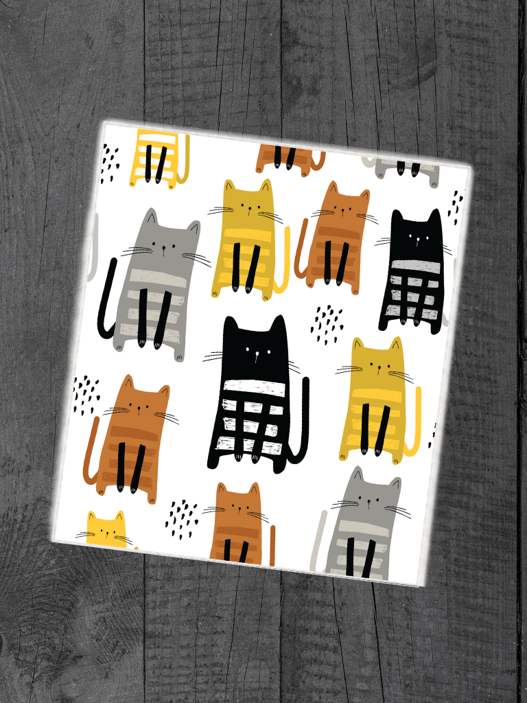 Kittens Everywhere - Swedish Dishcloth