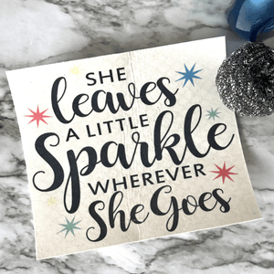 She Leaves A Sparkle - Swedish Dishcloth