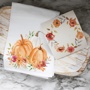 Fall Floral Wreath - Swedish Dishcloth