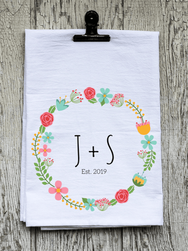 The Two of Us Floral Wreath - Personalized