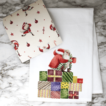 Load image into Gallery viewer, Happy Santa - Swedish Dishcloth