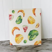 Load image into Gallery viewer, Tropical Fruits - Swedish Dishcloth