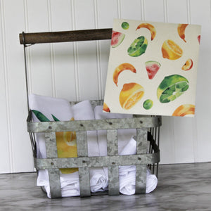 Tropical Fruits - Swedish Dishcloth