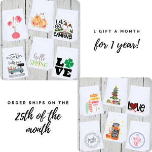 "1 Year ""Towel of the Month"" Gift Subscription"
