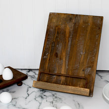 Load image into Gallery viewer, Aged Wooden Cookbook Stand