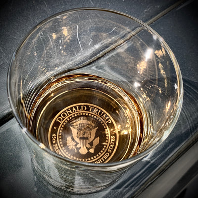 Donald Trump Presidential Seal Whiskey Glasses