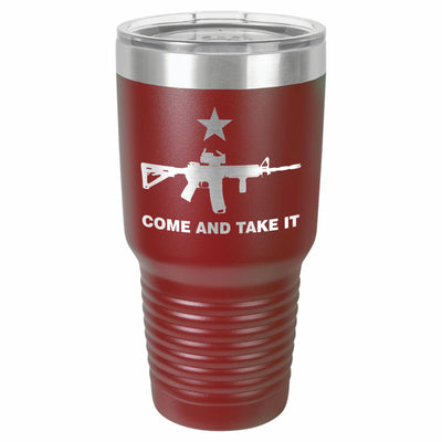 Come and Take It AR-15 Etched Tumbler