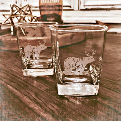 BEER? Deer Whiskey Glass Set