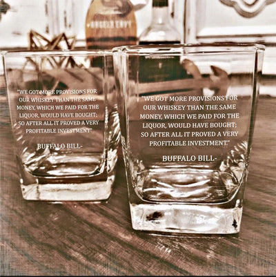 Buffalo Bill - D.O.F Whiskey/Bourbon/Scotch Set of 2 (Round or Square)